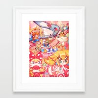 mario kart Framed Art Prints featuring Mario kart - Sweet Sweet canyon by SweetOwls