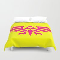 triforce Duvet Covers featuring Contrast Triforce by Rebekhaart