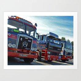 Classic Trucks Art Print