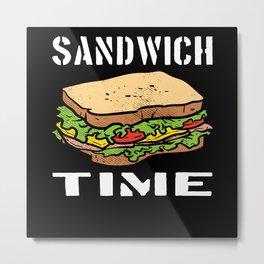 Sandwich Takeaway Lover Gift Motif Metal Print