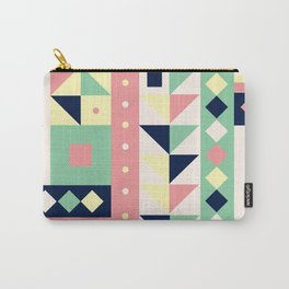 Vintage Geometric Love Carry-All Pouch