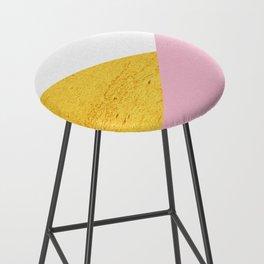 Gold & Pink Geometry Bar Stool