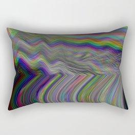 Digital pixel noise and glitch Rectangular Pillow