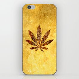 Vintage Cannabis Leaf iPhone Skin