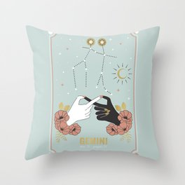 Gemini Zodiac Series Throw Pillow