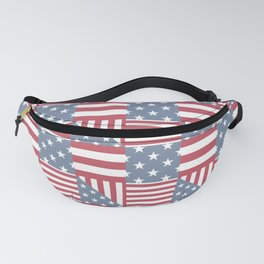Starry striped. Patchwork. Fanny Pack