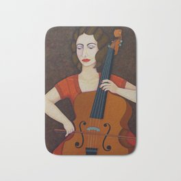 Guilhermina Suggia - Woman cellist of fire Bath Mat