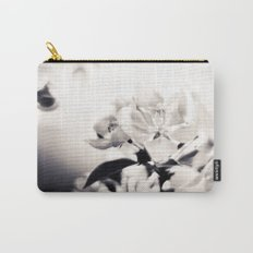 Black and White Flowers 2 Carry-All Pouch