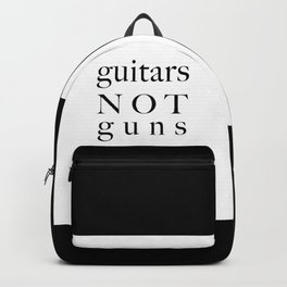 guitars not guns Backpack