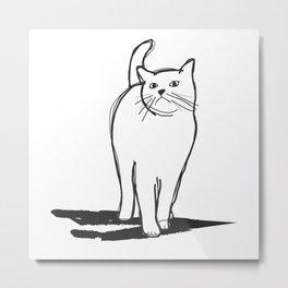 white cat Metal Print