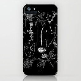 Nature Botanical Drawings by young kid artists, profits are donated to The Ivy Montessori School iPhone Case