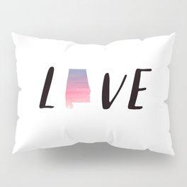 Alabama Love - Sunset Watercolor State Pillow Sham