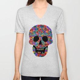 Happy skull Unisex V-Neck
