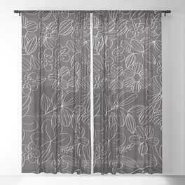 My Flower Design 13 Sheer Curtain