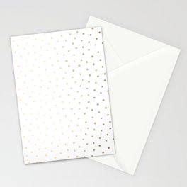 Luxe Gold Painted Geometric Polka Dots Stationery Cards