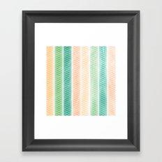 Feather Pattern Framed Art Print