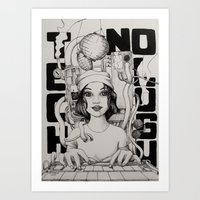 technology Art Prints featuring technology by Robson Clecio