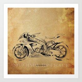 233-2019 HP4 Race original artwork for man cave decoration Art Print