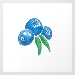 Why So Blueberry? Art Print