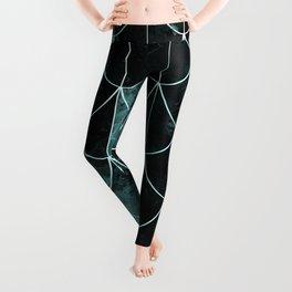 Mermaid scales. Mint and black. Leggings