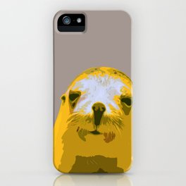 SEAL, HAPPY SEAL, SEAL FACE, Larhe pop art, curious seal, pop art animal, little seal, baby seal iPhone Case