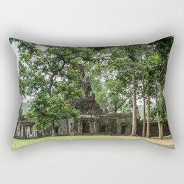 Terrace of Elephants Gate at Angkor Thom, Siem Reap, Cambodia Rectangular Pillow