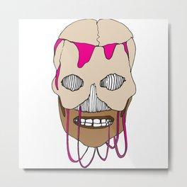Skull Head Street Art Design Metal Print