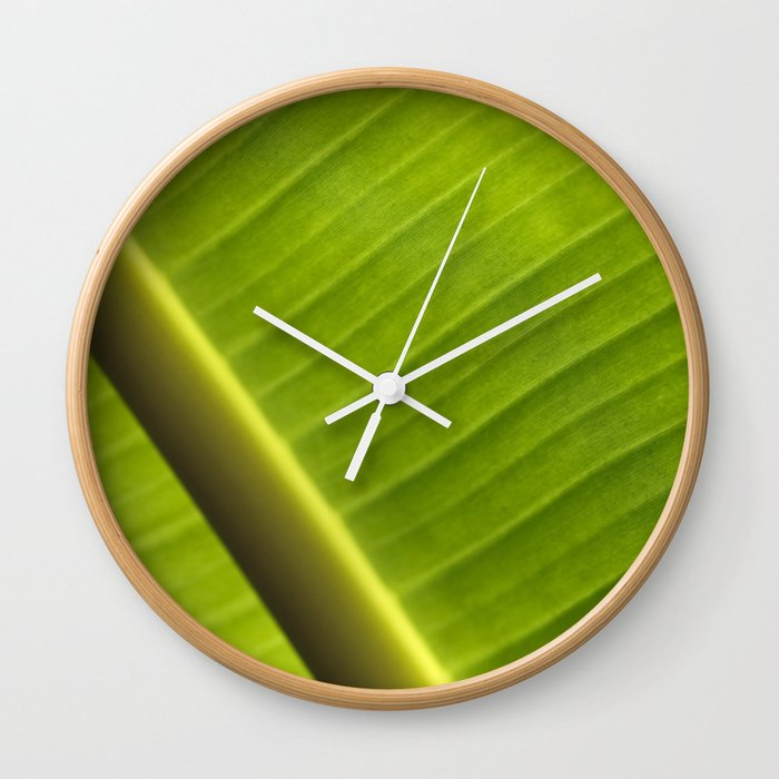 Banana Leaf III Wall Clock