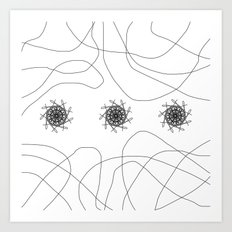 mandalas in maze Art Print