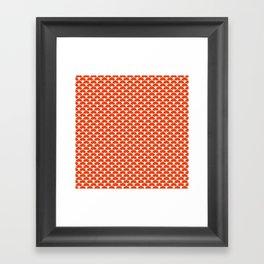 Dragon Scales Tangerine  Framed Art Print