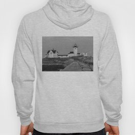 Eastern point Lighthouse Black and White aug2017 Hoody
