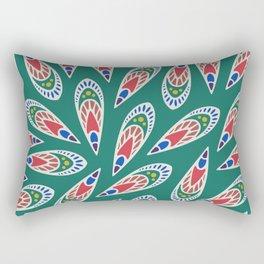 Green African Pattern Rectangular Pillow