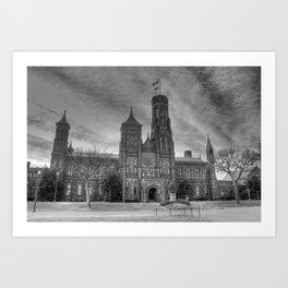 Smithsonian Castle B&W Art Print