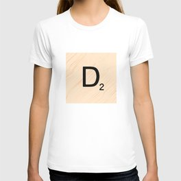 Scrabble Letter D - Large Scrabble Tiles T-shirt
