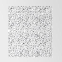 Dinosaurs Outline Pattern Throw Blanket