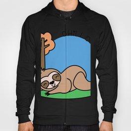 Felhy the chilled kawaii sloth Hoody