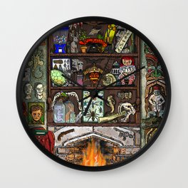 Creepy Cabinet of Curiosities Wall Clock