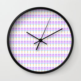 Popsicle Pattern Wall Clock