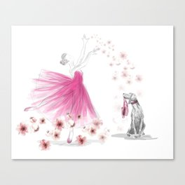 DANCE OF THE CHERRY BLOSSOM Canvas Print