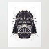 darth vader Art Prints featuring darth vader by yoaz