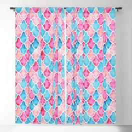 Colorful Moroccan style pattern Blackout Curtain