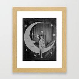 Paper Moon - Tintype Photo Framed Art Print