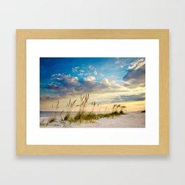 Sea Oats Beach Sunset Framed Art Print