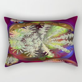 Butterfly and the Snowflake Rectangular Pillow