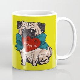 Be My Valentine Pug Coffee Mug
