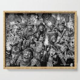 Frankenstein Villagers Serving Tray