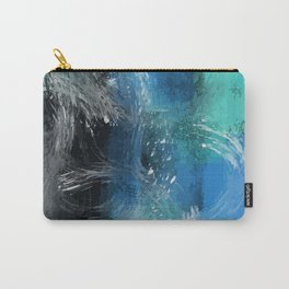 Abstract Blue Azur Carry-All Pouch
