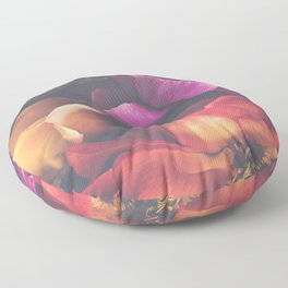 Color Burst Florals Floor Pillow