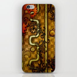 Noble Steampunk design, clocks and gears iPhone Skin
