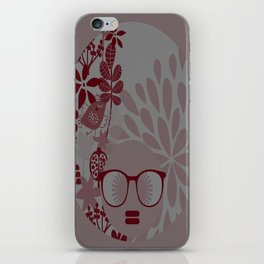 Afro Diva : Burgundy Sophisticated Lady  iPhone Skin